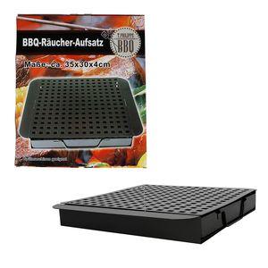 BBQ-Räucherbox mit Einsatz Smokerbox Aromabox Räucherdose Barbecue Grillzubehör
