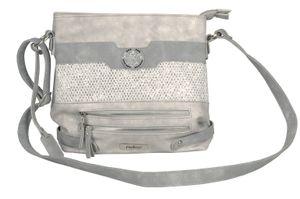 Rieker Damen Handtasche H1346-40 frost/cement/weiss-silber