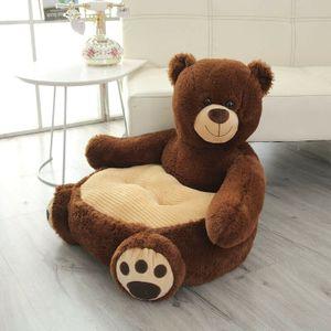 Kindersessel Plüschtier Baby Sitz Weiche Kissen Sofa Spielzeug Sitzsack Braunbär Einzelsofa für Kinder / Erwachsene