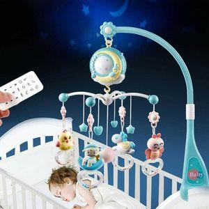 Miixia Säugling Mobile Spieluhr mit Deckenprojektor Schlafmusik Babybett Bettglocke