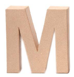 """Papp-Buchstabe, ca. 17,5 x 5,5 cm Buchstabe """"M"""""""
