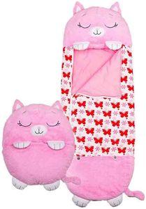 Happy Nappers Großes Spielkissen und Schlafsack, Fun One Piece Kinderpyjamas Schlafsäcke, für Kinder Überraschung (Pink)