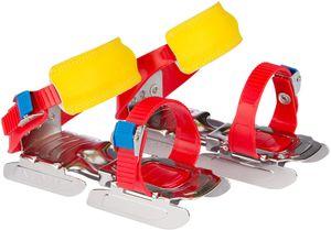 größenverstellbare Gleitschuhe / Kleinkinderschlittschuhe 24 - 34 rot/blau/gelb