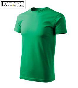 T-Shirt grasgrün Kindershirt 134 / 8 Jahre Furtwängler Basic 160g/m² verstärkte Schulterpartie