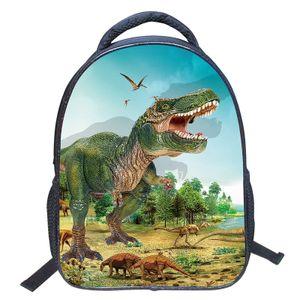 Jungen Schultasche Kinder Schultasche Wasserdichte Rucksäcke 3D Dinosaurier Cartoon Kindergarten Rucksack Kindertasche für Kindergarten und Grundschule Mehrfarbig - Modell ZZ43