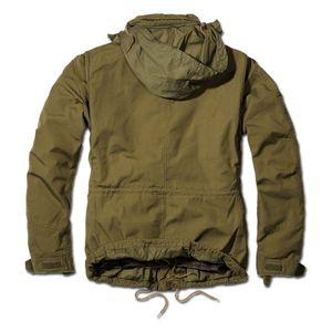 Brandit - M65 Giant Feldjacke Oliv, Parka US Style Jacke mit Futter Größe L