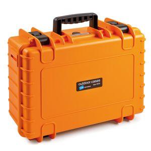 B&W International B&W Outdoor Case Typ 5000 22,1 l - Orange Mit Schaumstoffeinsatz