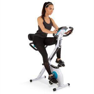 Klarfit Azura Plus 3-in-1 Heimtrainer  ,  3-in-1-Gerät: X-Bike, Relaxbike, Krafttrainer  ,  Riemenantrieb mit SilentBelt System  ,  2 Sitz-Optionen: X-Bike und Relaxbike  , MagResist: Magnetwiderstand (8 Stufen)  ,  SmartCardio Studio Tablet-Halterung  ,  EN95720-Standard  ,  komfortable Sitzgriffe  ,  Pulsmesser  ,  rutschfeste Pedale  ,  Transportrollen  ,  faltbar  ,  weiß