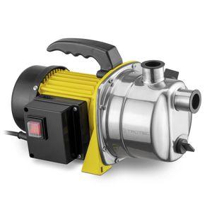 TROTEC Gartenpumpe TGP 1000 ES Wasserpumpe 1.000 Watt Leistung 3300 l/h Förderleistung   4,2 bar Förderdruck Rasensprenger Pumpe Gartenbewässerung Bewässerungssystem