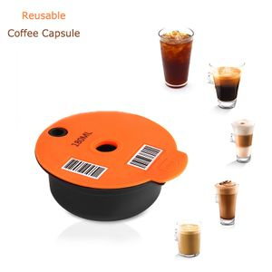 Reusable Coffee Capsule 180ml, silicon and lovable stainless steel capsule coffee pod For Bosch-s Tassimo Machine