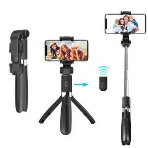 3 in1 Bluetooth Selfie Stick mit Handy Stativ Selfi Halter Stange für Smartphone@#