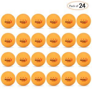 24 Stueck 3-Sterne 40mm Tischtennisbaelle Tischtennisbaelle Amateur Advanced Training uebungsbaelle