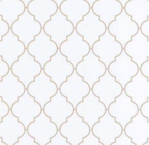 Klebefolie - Möbelfolie Dunja Ornamente weiß Nachbildungfolie 45 cm x 200 cm