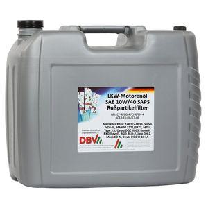 DBV-LKW-Motorenöl SAE 10W/40 SAPS für Rußpartikelfilter 20-Liter-Kanister