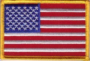 Aufnäher USA 8 x 5 cm