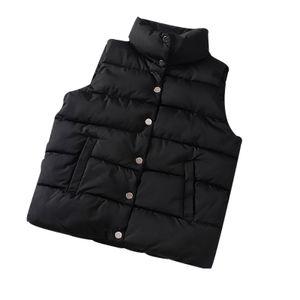 Mode Damen Weste Weste Gilet Jacke Mantel Outwear Solid Warm halten Tops Größe:M,Farbe:Schwarz