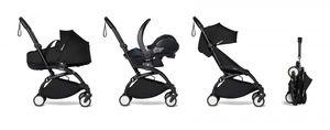 Babyzen YOYO² Gestell schwarz mit YOYO Bassinet - Babywanne 0+ und Colorpack 6+ - schwarz inkl. YOYO car seat by BeSafe