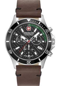 Swiss Military Hanowa 06-4337.04.007.06 Herrenuhr Flagship Racer Chrono Lederband braun
