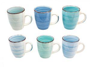 Studio Tavola Kaffeetassen Ocean Blue 250 ml - 6 Stück