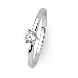 Xenox Damen Silber Sterling 925 Ring in Silber mit Zirkonia - Silver Circle XS7383, Ringgröße (Durchmesser):52 (16.6 mm Ø)