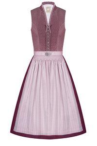 MOSER Midi Dirndl 65cm bordeaux rosa Romy 005426 Größe: 44