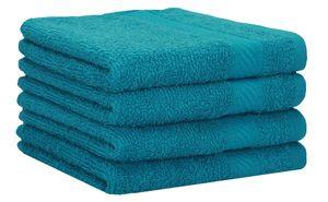 Betz 4er Duschtücher Set PALERMO Größe 70x140 cm 100% Baumwolle  Farbe - petrol