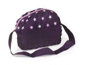 Puppen-Wickeltasche für Puppenwagen Stars lila