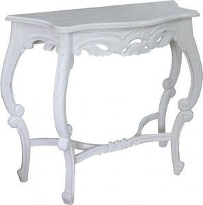 Casa Padrino Barock Konsolentisch Antik Stil Weiß - Shabby Chic - Medium Size