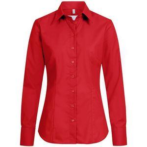 Größe 42 Greiff Corporate Wear Basic Damen Bluse Langarm Regular Fit Rot Modell 6515