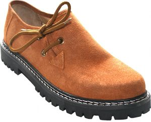 Trachtenschuhe Haferlschuhe Lederschuhe Trachten Schuhe aus Wildleder kastanienbraun, Schuhgröße:46