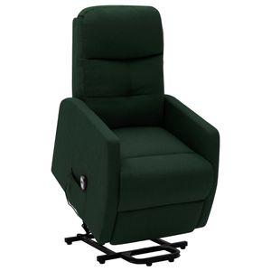 Sessel mit Aufstehhilfe Dunkelgrün Stoff