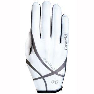 ROECKL Reit Handschuhe LAILA Solar Tan Thru, weiß, 6,5
