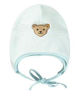 STEIFF® Baby Jungen Nicky-Bindemütze, Größe:37, Präzise Farbe:Hellblau