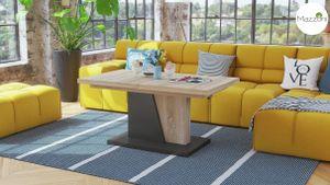 Design Couchtisch Tisch Grand Noir Sonoma Eiche / Anthrazit Grau stufenlos höhenverstellbar ausziehbar 120 bis 180cm Esstisch