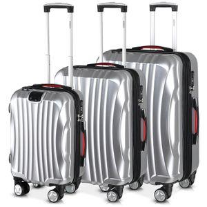 M L XL Hartschalenkoffer Reise Trolley Koffer mit 4 Rollen TSA Schloss Hard Case, Größe/Farbe:XL - Champagner