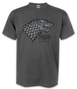 Game of Thrones TShirt Winter is Coming  House Stark S