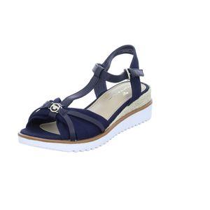 Tom Tailor Damen Sandalette in Blau, Größe 39