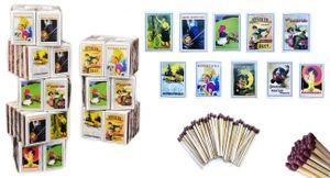 jameitop® 80 Schachteln Zündholzschachtel Zündhölzer gemischte Retro Motive 3200 Streichhölzer, 41mm