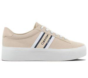 Calvin Klein Damen Sneaker Sneaker Low Textil beige 39