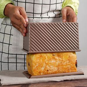 Antihaft-Form Kuchen Laib Toastbrot Backform Backform Pfanne Box mit Deckel