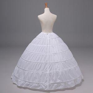 6 Hoops Petticoat Reifrock Unterröcke Damen Lang Für Brautkleid Hochzeitskleid Vintage Crinoline Underskirt