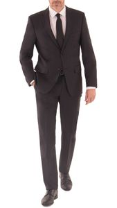 Daniel Hechter - Regular Fit - Herren Baukasten Anzug aus 100% feinster ital. Schurwolle in schwarz und blau (100101), Größe:114, Farbe:Schwarz (990)