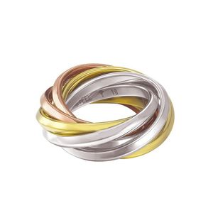 Joop Damen Ring JP-EMBRACE Edelstahl tricolor 56 (17.8)