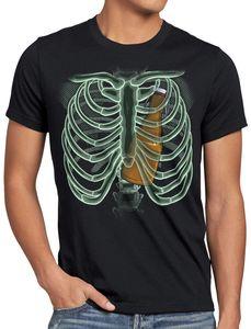 style3 Bierflasche X-Ray Herren T-Shirt hopfen malz papa röntgen, Größe:XXL