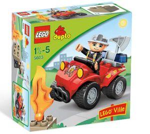LEGO DUPLO VILLE Feuerwehr-Hauptmann 7-teilig, ab 1 1/2 Jahren (5603)