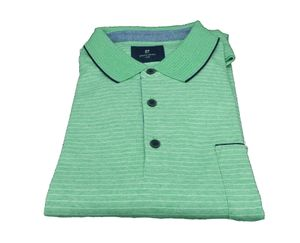 Pierre Cardin Herren Polo-Shirt, Modern Fit, 57614 1262 6219, Ringel amazon Hellgrün XXL