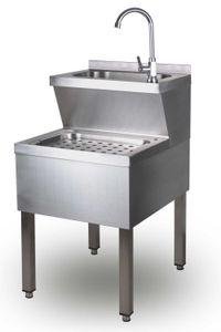 Handwasch- / Ausgussbecken Modell HANNA, Maße: B 500 x T 600 x H 850