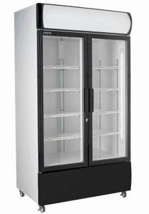 SARO Getränkekühlschrank mit Werbetafel - 2-türig Modell GTK 580