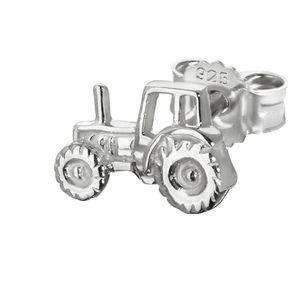 Einzel Traktor Zugmaschine 925er Sterlingsilber Ohrstecker 8*5mm Ohrring 4837