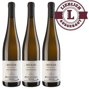 Weißwein Rheinhessen Gewürztraminer Weingut Becker Auslese lieblich ( 3 x 0,75 l)